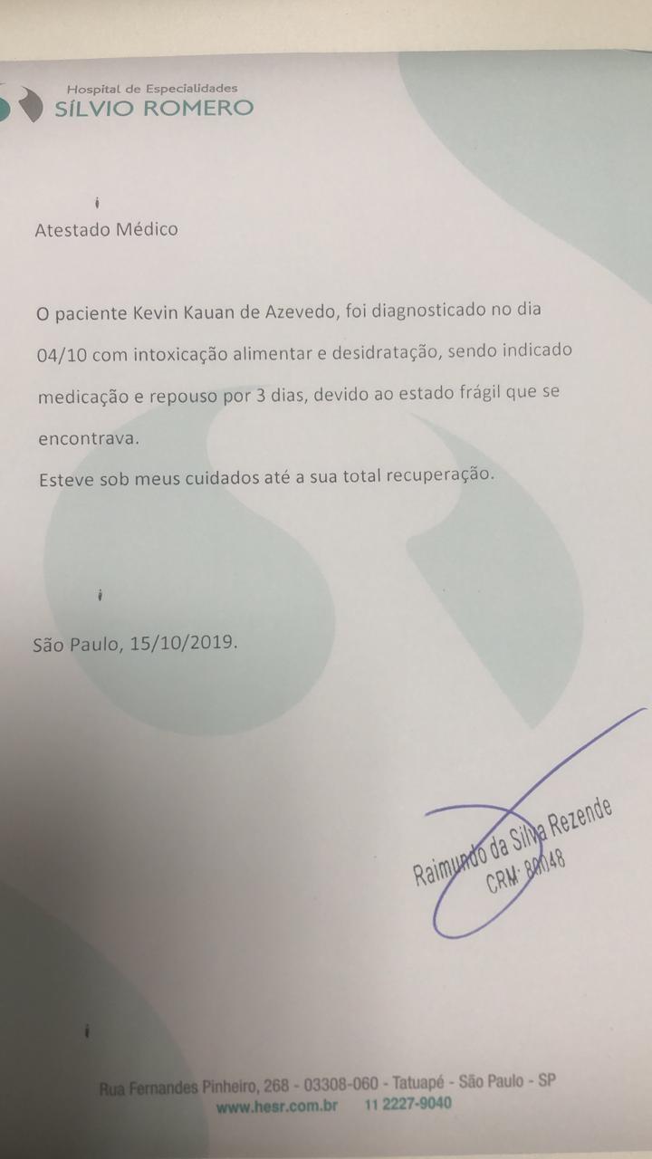 Kevinho divulga atestado médico: ausência no Rock in Rio foi por intoxicação com comida japonesa - Notícias - Plantão Diário