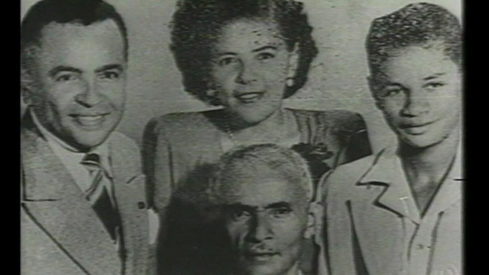 Luz Gonzaga e sua família — Foto: Reprodução/TV Globo