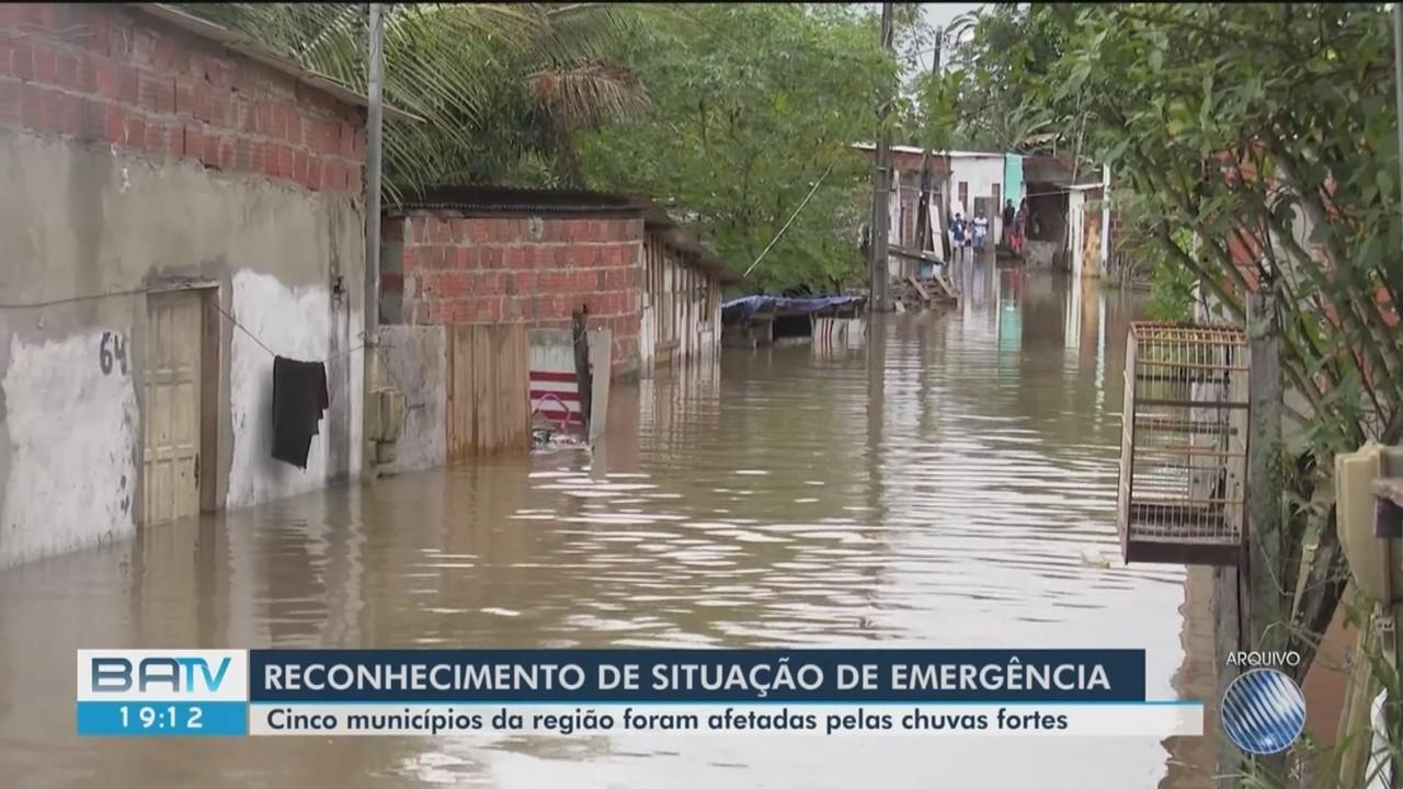 Governo reconhece situação de emergência em nove municípios atingidos pela chuva na Bahia