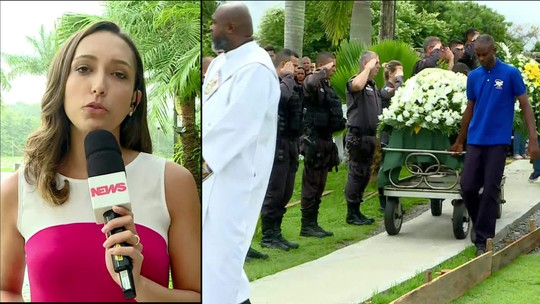 PM morto com mais de 30 tiros é enterrado em Niterói, no RJ