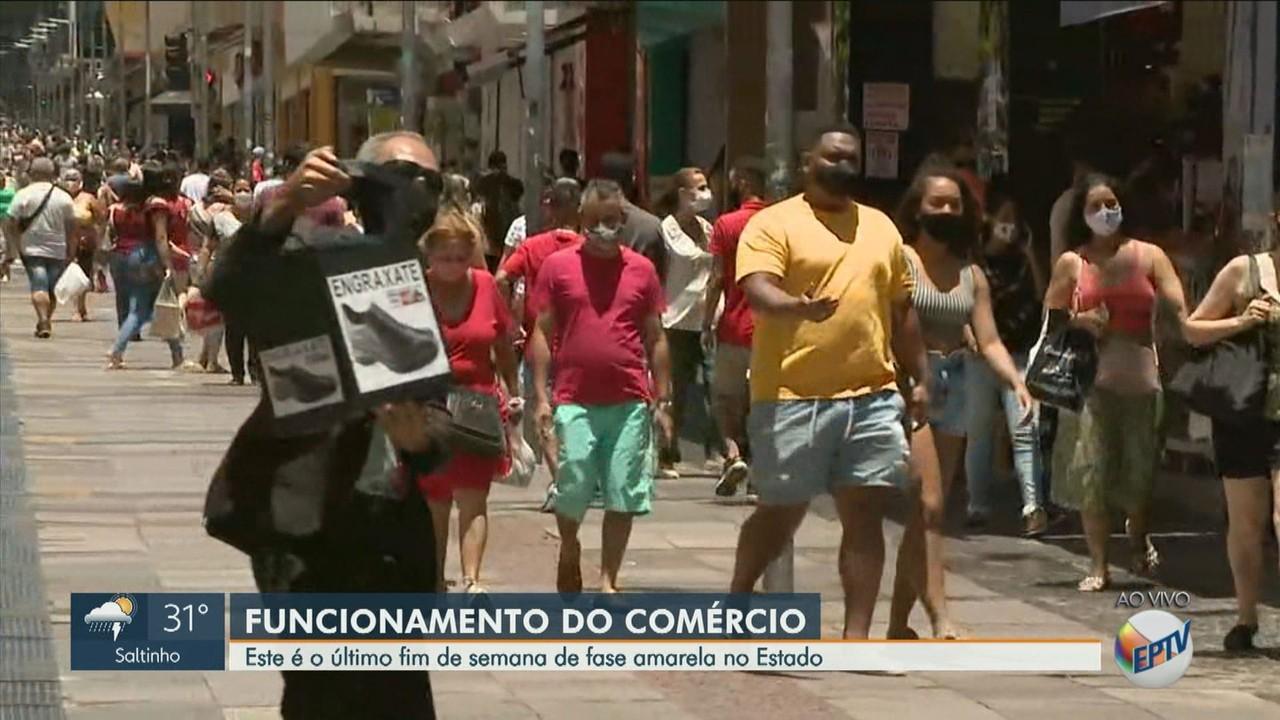 Último final de semana na fase amarela é marcado por aglomeração na região de Campinas