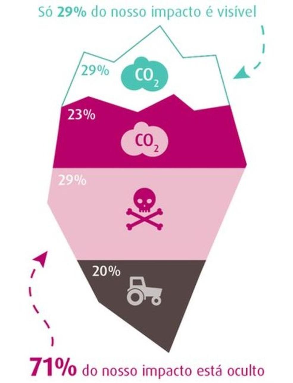 71% do nosso impacto no meio ambiente está oculto  (Foto: BBC)