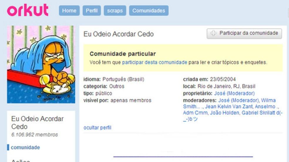 comunidade-no-orkut — Foto: Reprodução/Orkut