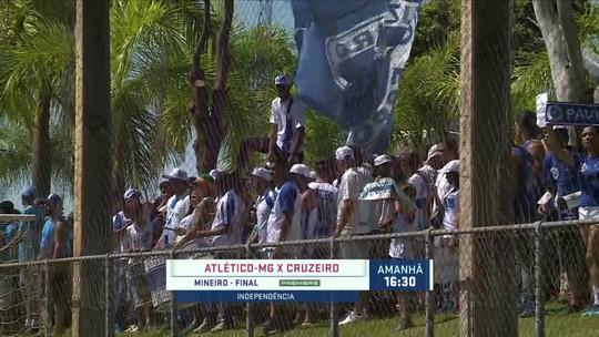 Torcida do Cruzeiro marca presença no último treino antes da decisão