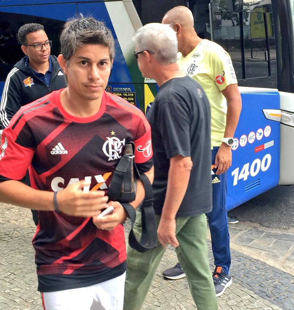 Conca atuou só 27 minutos pelo Flamengo (Foto: Igor Rodrigues)