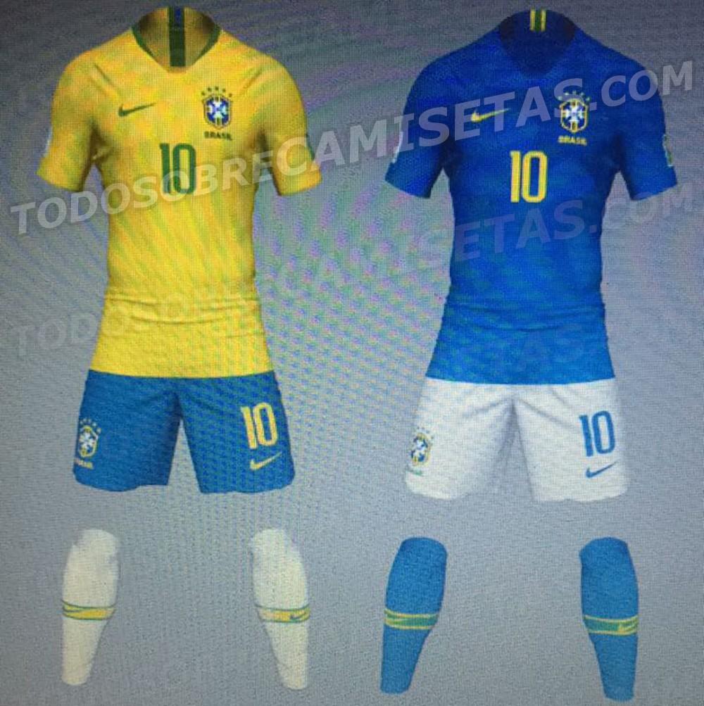 Site vaza supostas camisas do Brasil para Copa da Rússia - Esportes ... 20263e63a8845