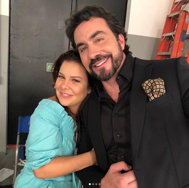 Fernanda Souza e padre Fábio de Melo (Foto: Reprodução/Instagram)