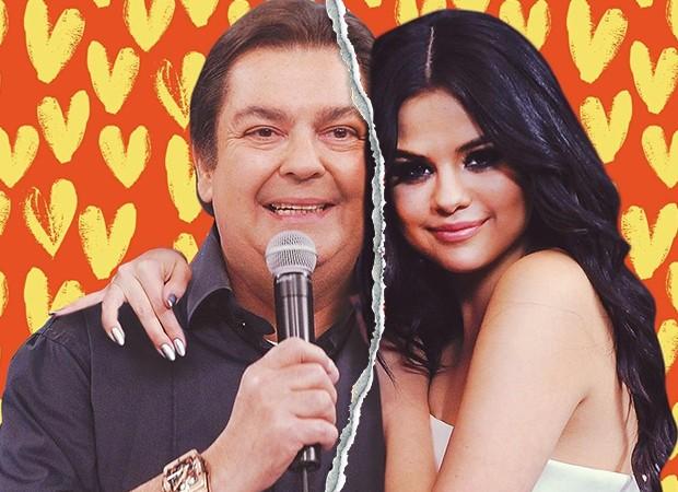 Romance de Faustão e Selena Gomez chega ao fim (Foto: Reprodução)