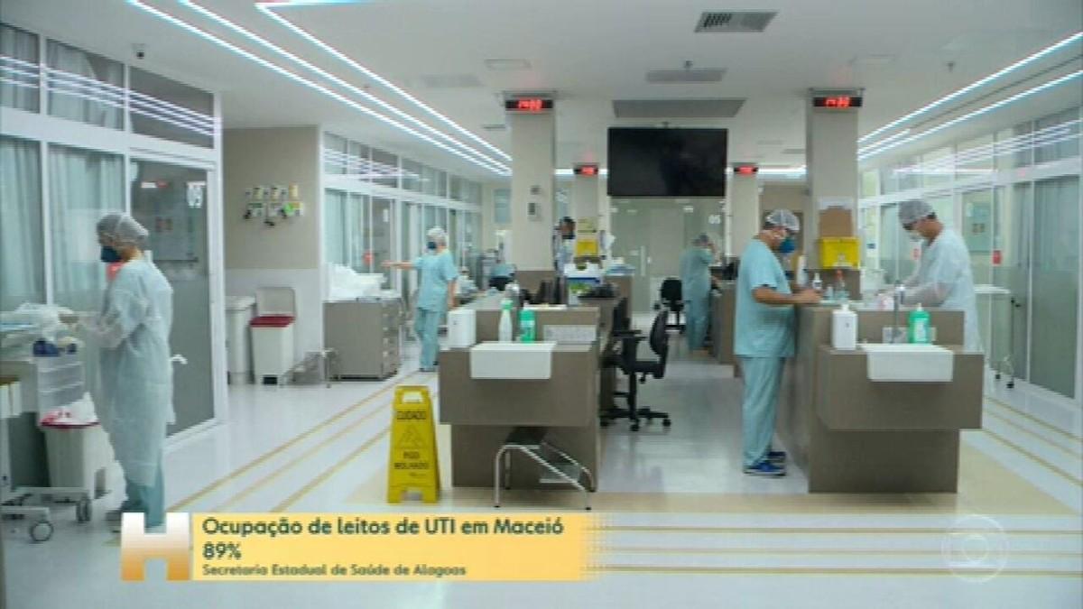 Alagoas chega ao último dia do atual decreto da fase vermelha com 91% de ocupação dos leitos de UTI Covid