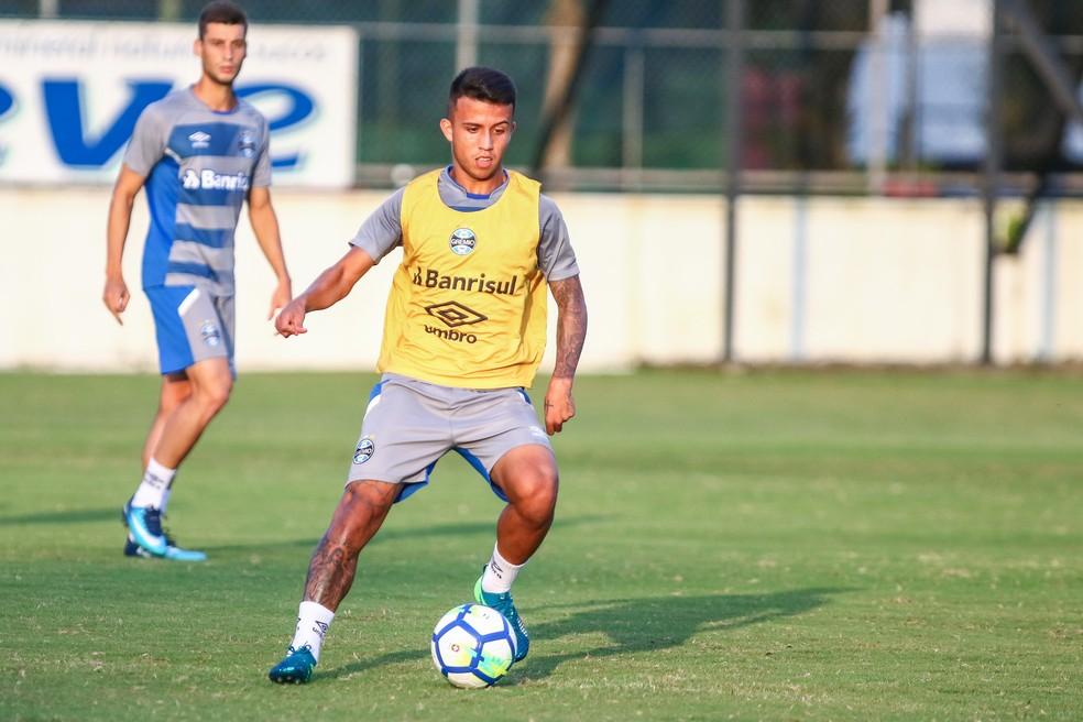 Volante Matheus Henrique já integra o grupo principal do Grêmio (Foto: Lucas Uebel / Grêmio F.B.P.A.)