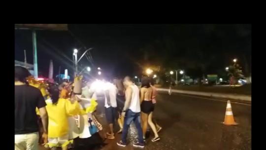 PRF flagra foliões se arriscando na pista após festa de carnaval no PA
