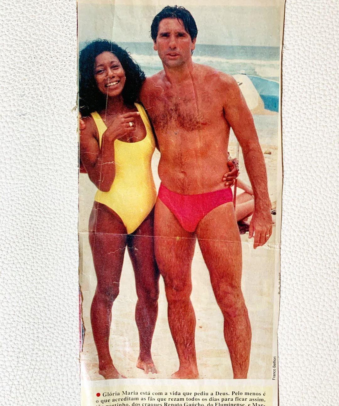Gloria Maria e Renato Gaúcho (Foto: Reprodução/Instagram)