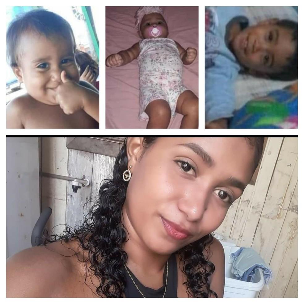 Três crianças morreram carbonizadas após serem deixadas trancadas em casa por mãe que foi para bar no AC — Foto: Arquivo pessoal