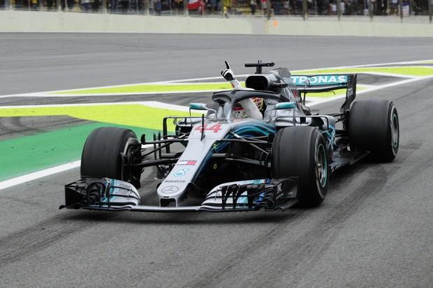 Hamilton vence GP Brasil e garante o título de Construtores para a Mercedes (Foto: Ivan Carneiro)