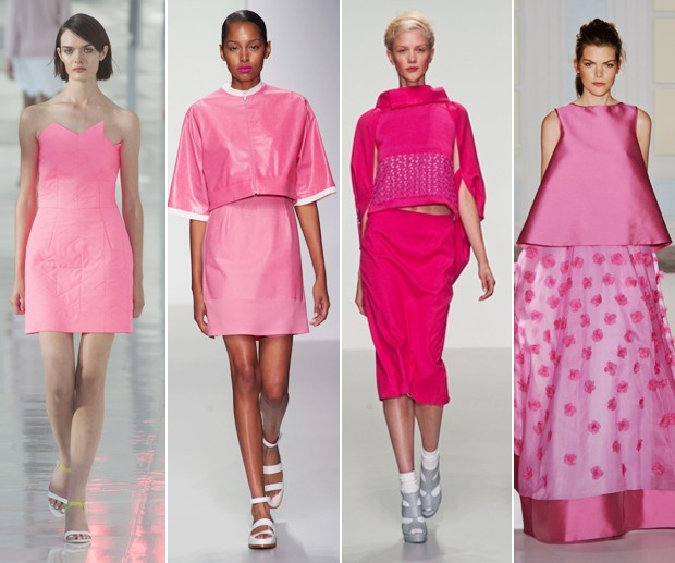 Pink flamingo: Preen by Thornton Bregazzi; J. JS Lee; Bora Aksu; Temperley (Foto: Getty Images)