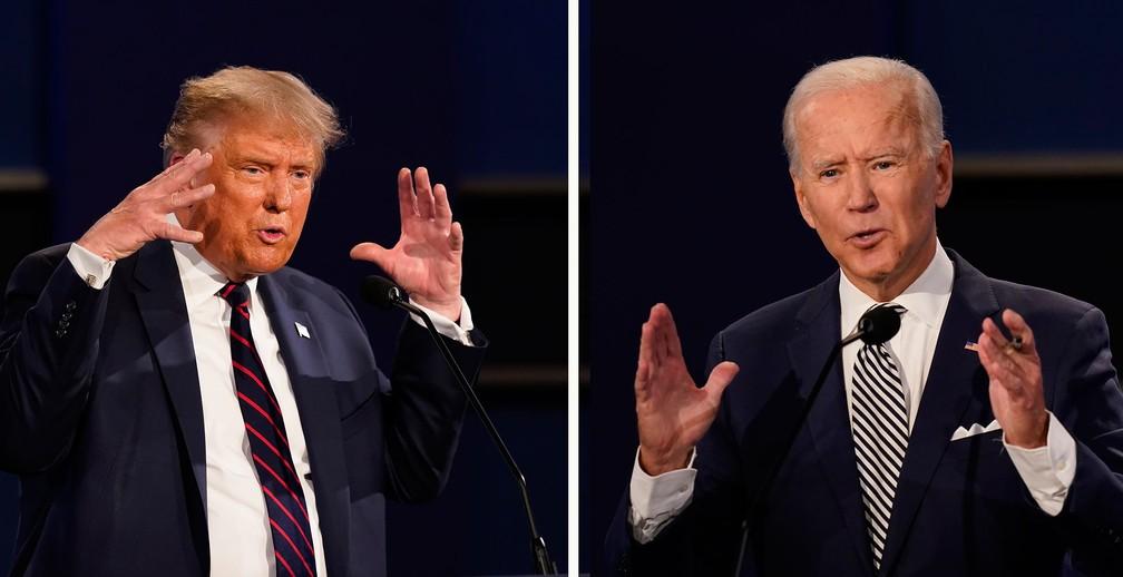 Próximos debates entre Trump e Biden terão mudanças para evitar  interrupções, prometem organizadores | Eleições nos EUA 2020 | G1