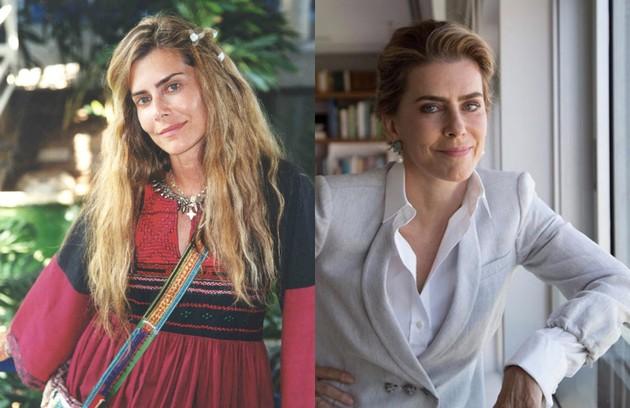 Maitê Proença foi Kalinda, mãe de Cristal (Sandy). Nascida numa comunidade hippie na Califórnia, a personagem se casou com Bob (Marcos Winter), com quem fundou a Arco da Aliança. Seu último trabalho na TV foi na série '#MechamadeBruna', da Fox (Foto: TV Globo / Reprodução )