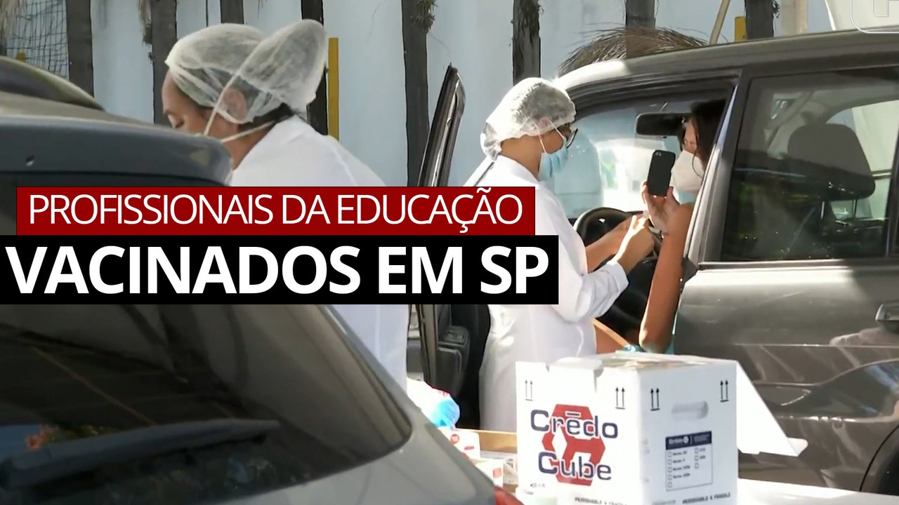 VÍDEO: Profissionais da educação começam a ser vacinados no estado de São Paulo