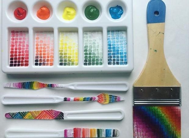 Perfil do Instagram cria obras de arte a partir de objetos do dia a dia do artista (Foto: Instagram/ Reprodução)
