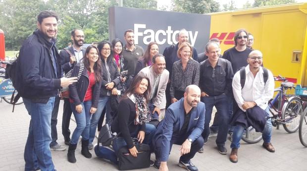 Empreendedores brasileiros participaram de visita à Factory Berlin (Foto: Maggi Krause)