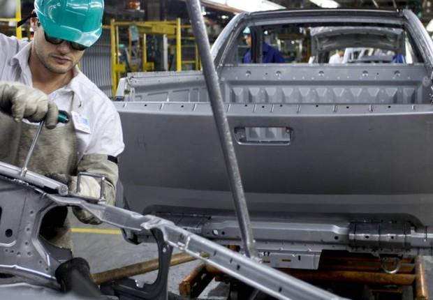 Unidade da montadora General Motors (GM) em São José dos Campos, no interior de São Paulo (Foto: Marcos Issa/Bloomberg via Getty Images)
