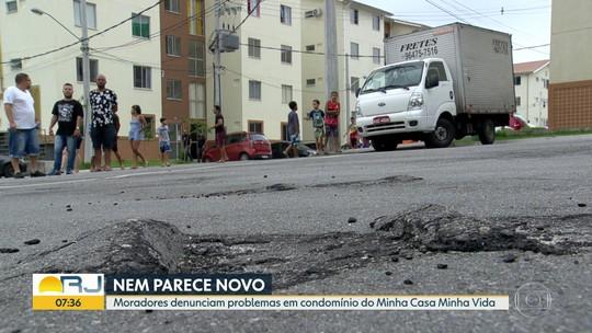 Condomínio Minha Casa, Minha Vida na Zona Norte do Rio apresenta problemas estruturais