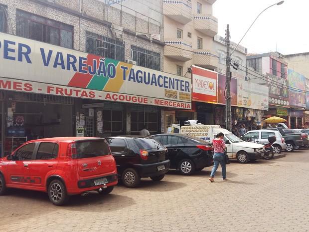 O centro comercial Taguacenter, localizado na região norte de Taguatinga (Foto: Isabella Calzolari/G1)