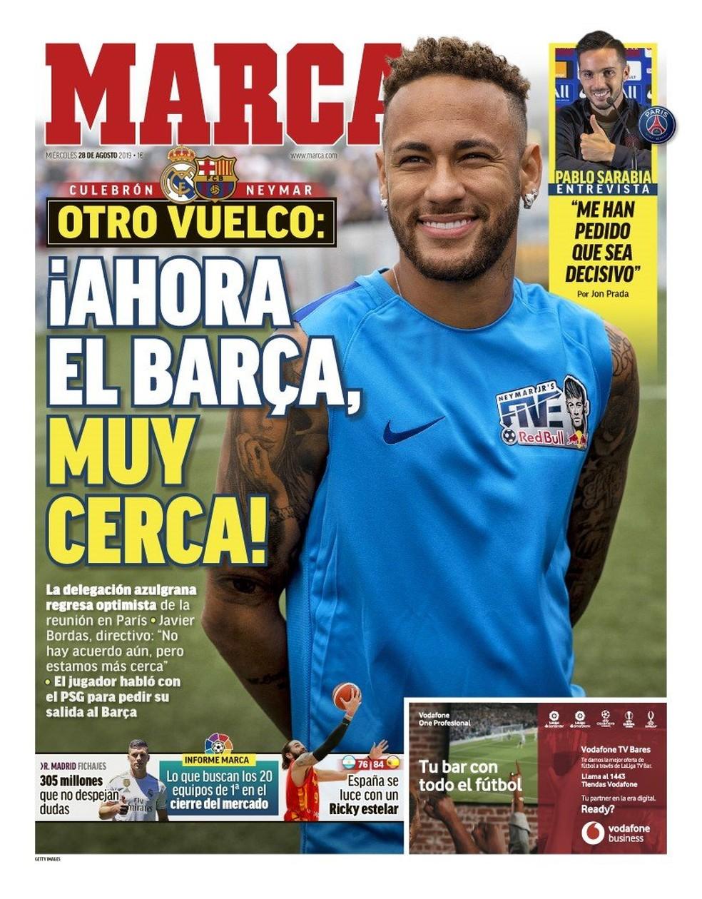 Capa do Marca sobre Neymar, Barcelona e Paris Saint-Germain — Foto: Divulgação
