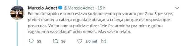 Marcelo Adnet faz post em rede social (Foto: Reprodução/Twitter)