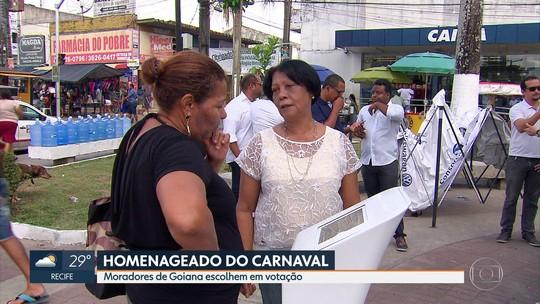 Goiana faz votação popular para escolher homenageado do carnaval