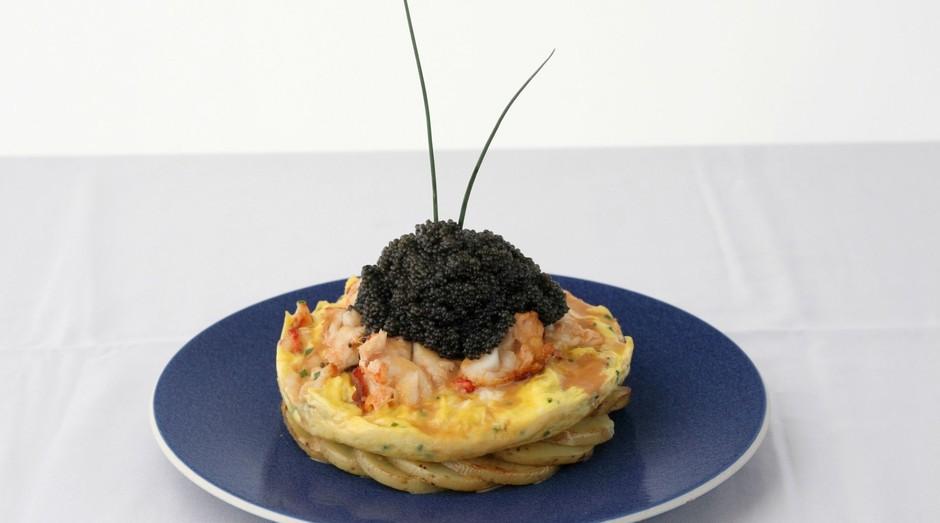O Zillion Dollar Frittata vem com seis ovos, lagosta e até mesmo caviar (Foto: Divulgação/ Norma's)