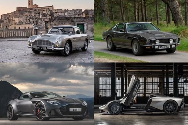 Os quatro carros da Aston Martin que estarão no próximo filme da franquia 007.  (Foto: Divulgação)