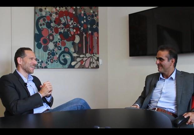 Alex Szapiro da Amazon e Pablo Di Si da Volkswagen (Foto: Fabiano Zig )