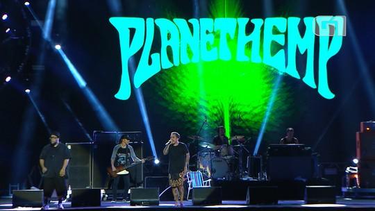Confira os melhores momentos do show do Planet Hemp no Festival de Verão