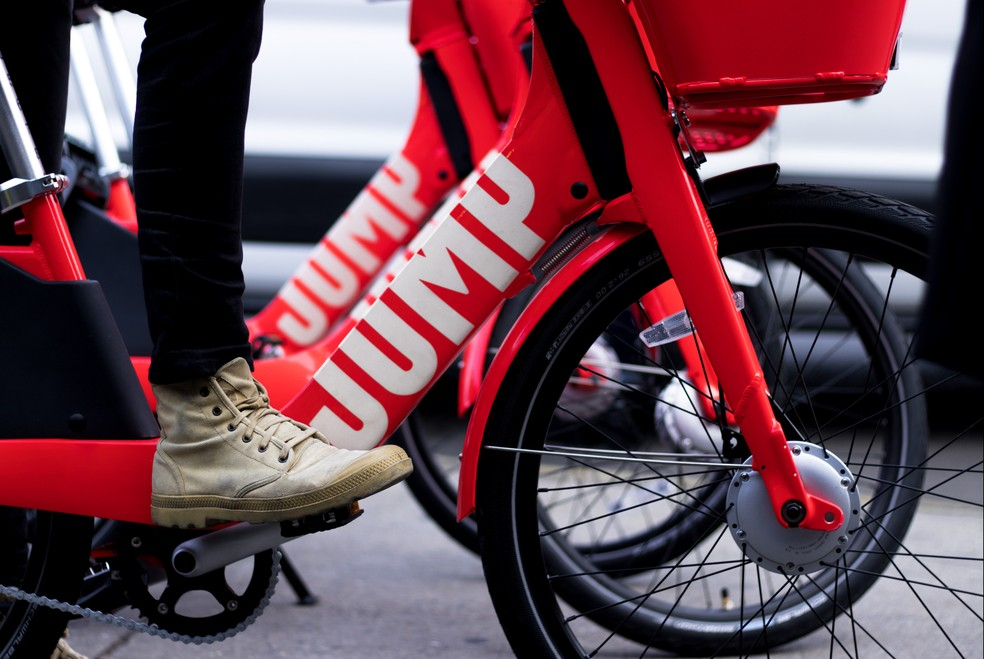 Bicicleta elétrica da JUMP, startup comprada pela Uber. (Foto: Divulgação/JUMP)