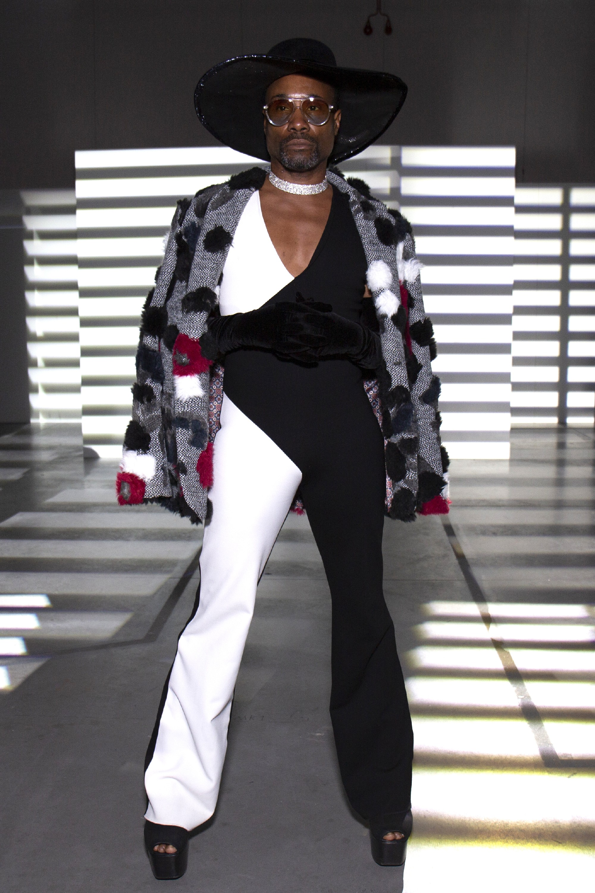 Billy Porter na semana de moda de Londres (Foto: Getty Images)