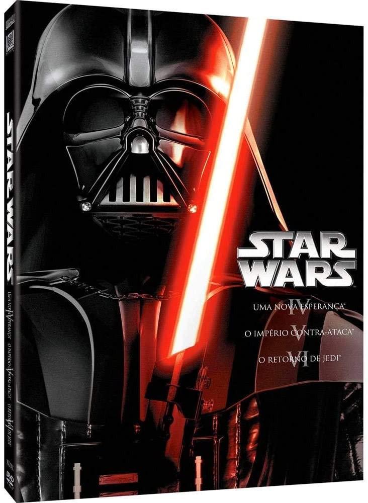 Box de DVDs de Star Wars contam com três filmes da saga (Foto: Divulgação/Amazon)