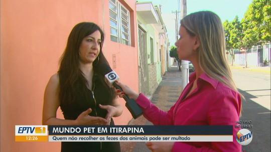 Donos que não recolherem fezes de animais em espaços públicos serão multados em Itirapina