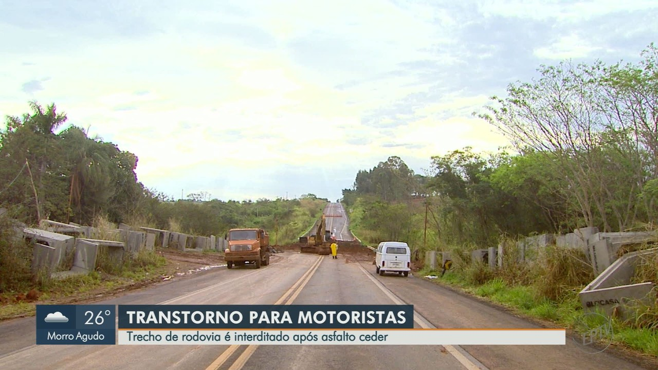 Motoristas reclamam de interdição de rodovia em Monte Azul Paulista, SP