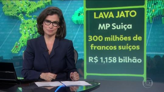 Autoridades suíças anunciam que devolveram R$ 1 bi ao Brasil, como resultado da Lava Jato