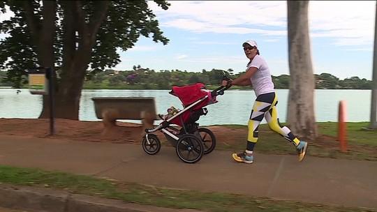 Repórter Luciana Machado segue na preparação para correr Volta da Pampulha com filho