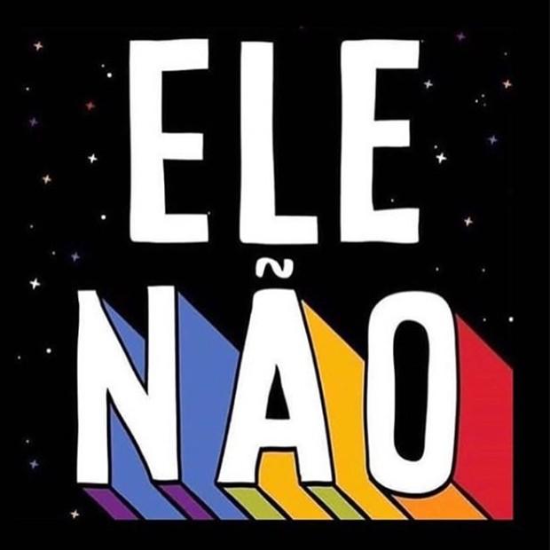 A imagem que se popularizou nas redes sociais: #EleNão (Foto: Reprodução/Instagram)