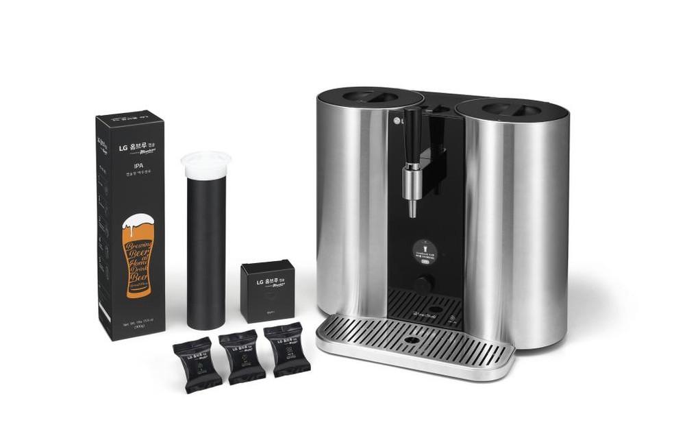 HomeBrew usa mecanismo semelhante ao das cafeteiras espresso ? Foto: Divulgação / LG