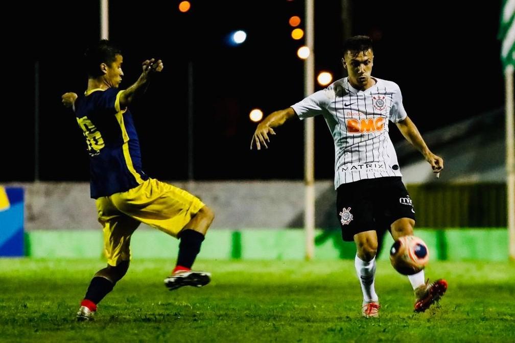Lance de Corinthians x Retrô pela Copa São Paulo — Foto: Rodrigo Gazzanel/Ag. Corinthians