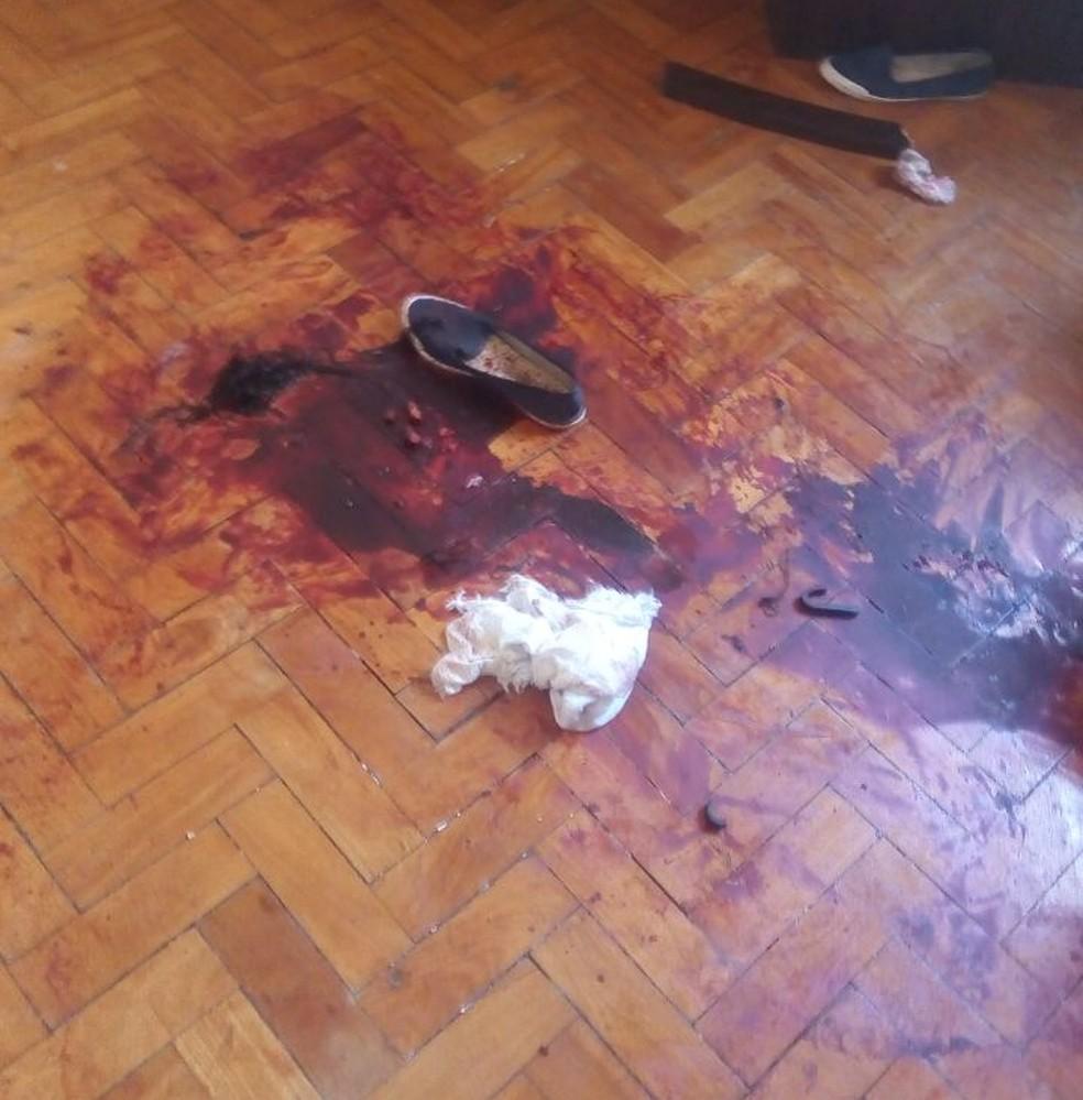 Cena de um crime de feminicídio que ocorreu na Zona Norte do Rio — Foto: Divulgação