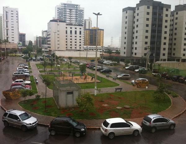 Praça da quadra 206 de Águas Claras, no Distrito Federal (Foto: Raquel Morais/G1)