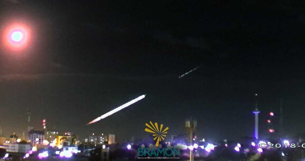 Meteoro cai em Icó, no Ceará, e chama atenção da população pelo tamanho.  (Foto: Rede Brasileira de Monitoramento de Meteoros)