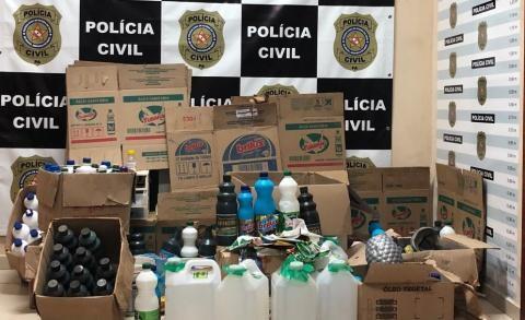 Suspeito de crime contra saúde pública e adulteração de produtos de limpeza é autuado em Ananindeua - Notícias - Plantão Diário