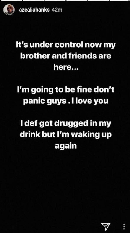A mensagem compartilhada por Azealia Banks na qual ela revelou ter sido estuprada  (Foto: Instagram)