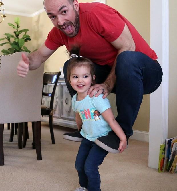 Matt e Ella em mais uma foto criativa (Foto: Matt Macmakesstuff)